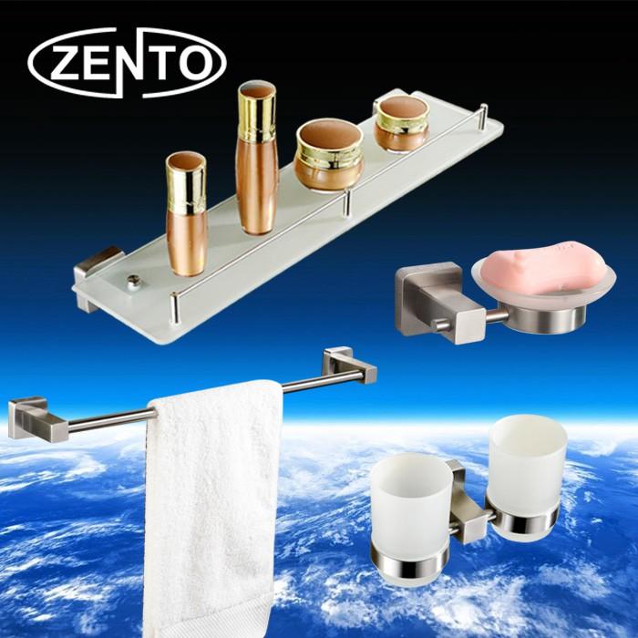 Bộ 4 phụ kiện gương nhà tắm inox 304 Zento HC167