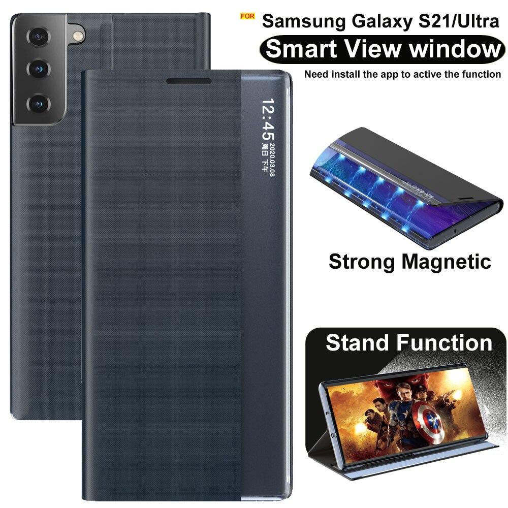 6. Bao Da Clear View Cho Samsung Galaxy S21 Ultra/ Plus