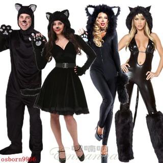 trang phục halloween hình mèo đen gợi cảm cho nữ