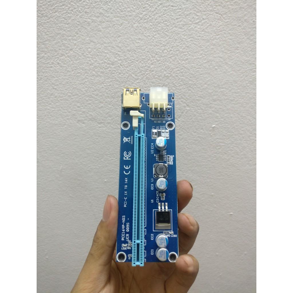 Dây Riser 009s Có LED Mới 100% Hàng Chuẩn / Riser pci-e 1x to 16x dây usb 3.0