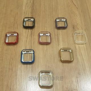 [Bảo vệ toàn diện] Ốp lưng silicon mạ crom hở màn cho Apple watch series 1 2 3 4 5 thumbnail