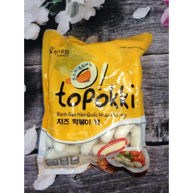 Bánh gạo Tokbokki nhân phô mai
