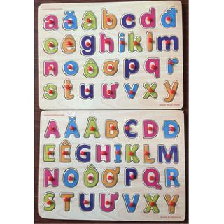 [ HOT DEAL ] Bảng chữ cái Tiếng Việt gỗ có núm cầm 20×30 cm cho bé