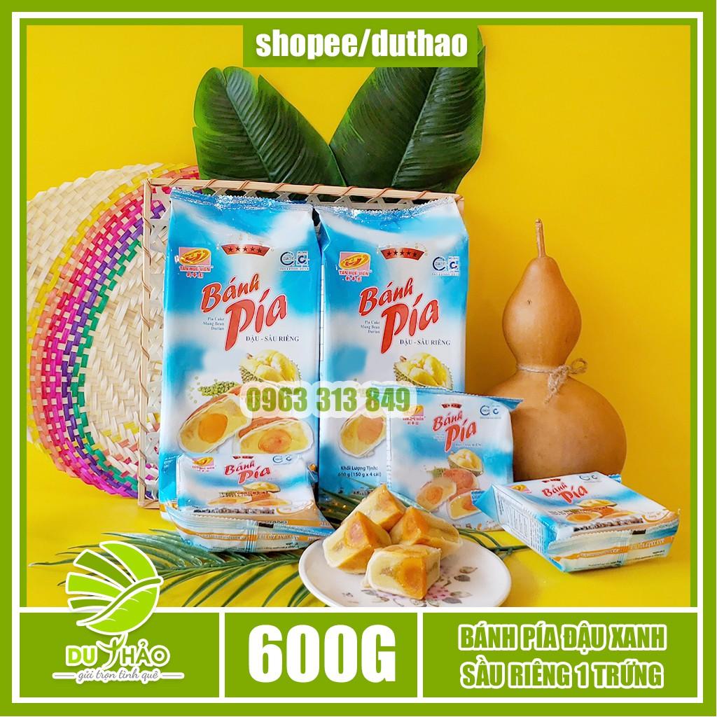 Bánh pía đậu xanh sầu riêng trứng Tân Huê Viên 600g