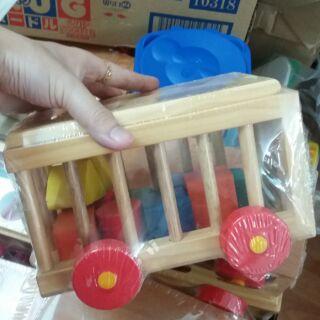 Xe đồ chơi thả hình gỗ