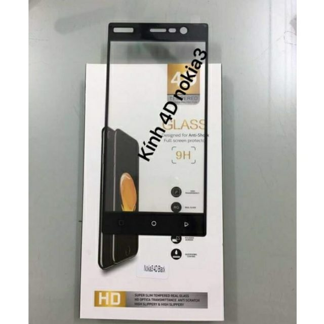 Kính full 4D Nokia 3