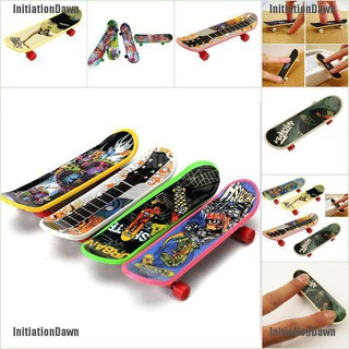 InitiationDawn 1X Mini Finger Board Skateboard Novelty Kids Boys Girls Toy Gift for Party 3.7″