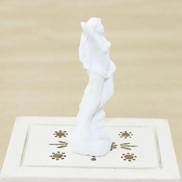 HW Mini Goddess Statue Sculpture Figurine White Decoration for Dollhouse