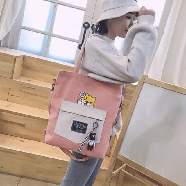 Túi Vải Tote Chú Chó Hachiko Hot Trend 2019