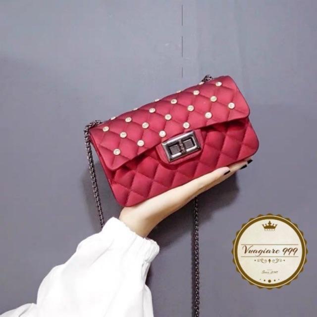 Túi xách đeo chéo Silicon đá DC69