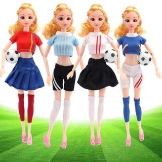 set 4 bộ trang phục thể thao cho búp bê