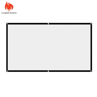 Flameer Sports 60inch Foldable 16:9 HD Projection Screen Home Cinema Movie Projector Curtain