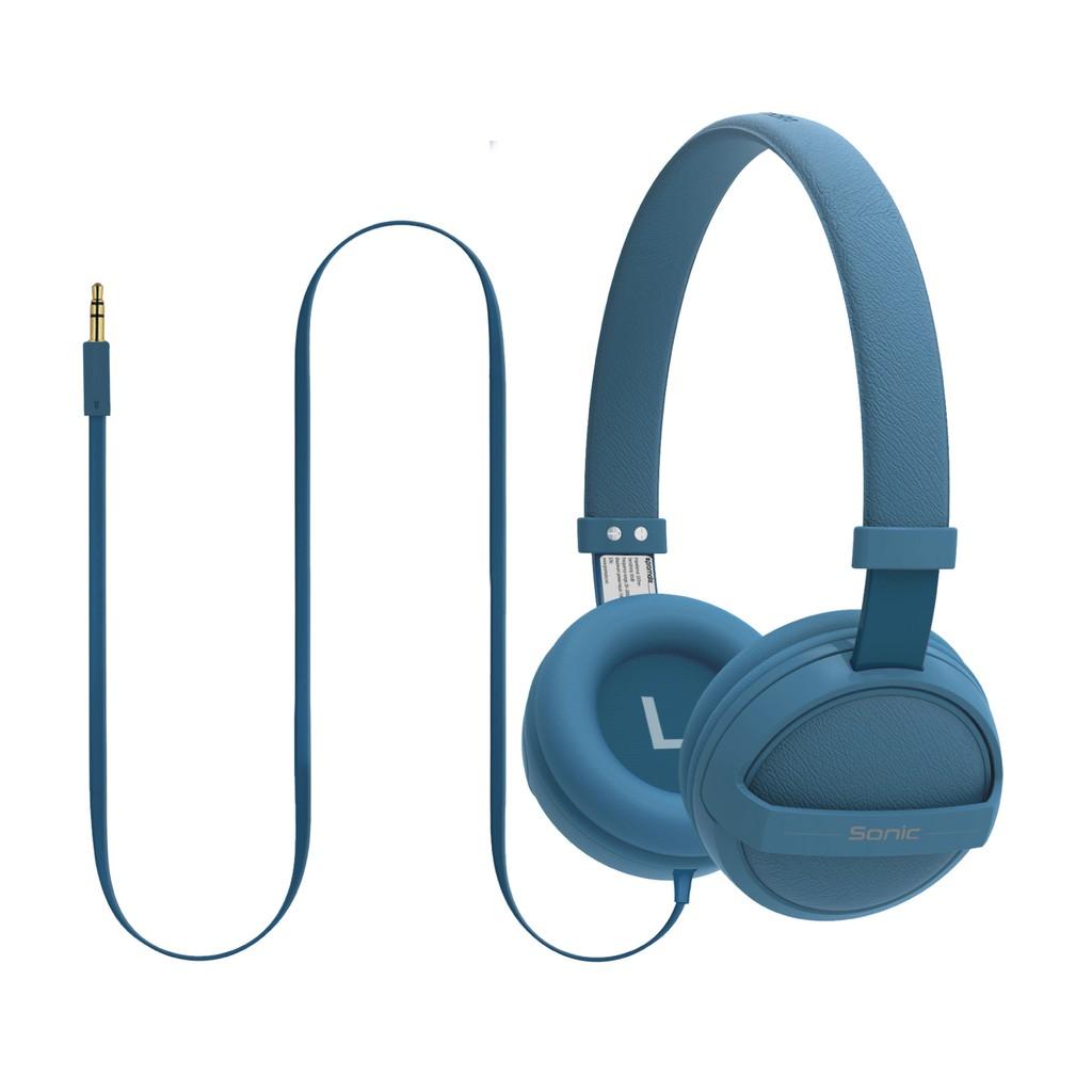 Tai nghe On-Ear Promate Sonic bọc đệm mềm (Xanh dương)