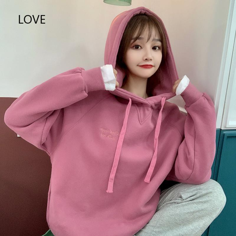 thin 7525 sanitary clothes cloth Hoodie piece scale two female Real of shot cotton fish