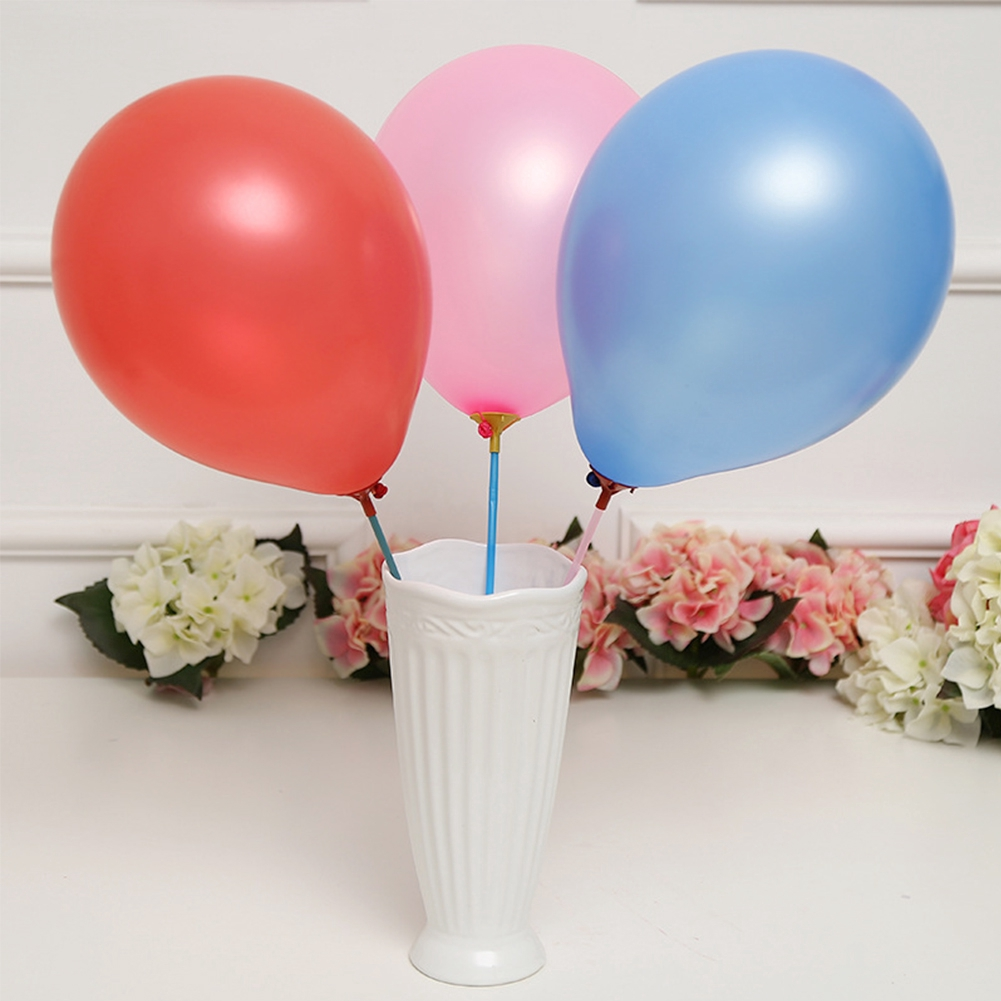 100Pcs Random Holiday Stick Holder Party Plastic With Cup Rods Decoration Balloon Towbars Wedding