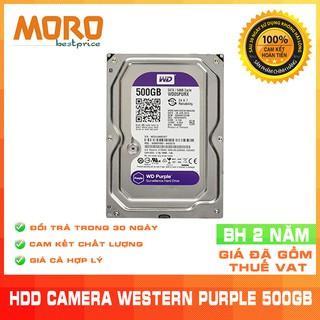 [Mã ELMS05 giảm 5% đơn 300K] Ổ cứng Camera HDD WD Purple 500GB - Bảo hành chính hãng 24 tháng 1 đổi 1