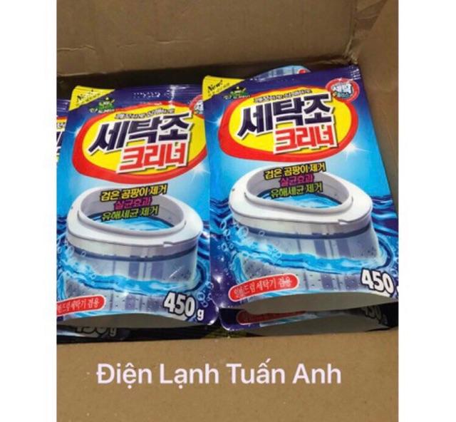 Combo 2 Gói Bột Tẩy Lồng Máy Giặt Hàn Quốc Siêu To 450g