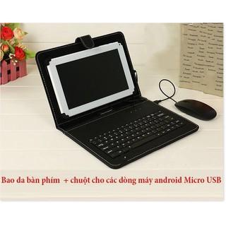 Bàn phím chơi game dành cho điện thoại, Bao da bàn phím kèm chuột cho điện thoại, máy tính bảng, hỗ trợ các loại máy And