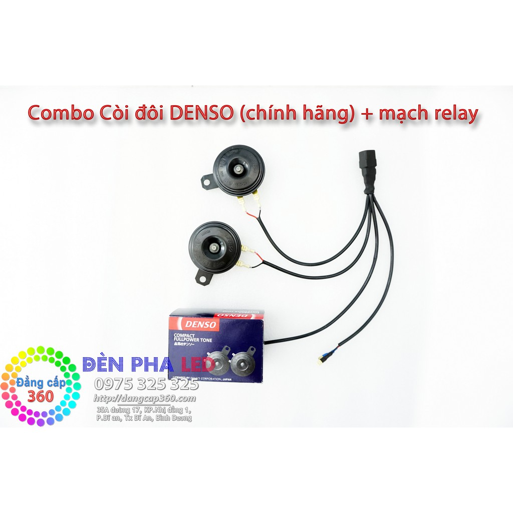 ✅Combo còi đôi Denso + tặng kèm mạch relay