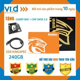 [COMBO HOT]Mua ổ cứng SSD Kingspec 240GB  Tặng Caddy Bay và Cáp Sata - Bảo hành chính hãng 36 tháng