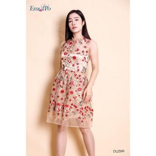 Đầm dạ hội thêu hoa dáng vừa Emspo DL2599 thumbnail