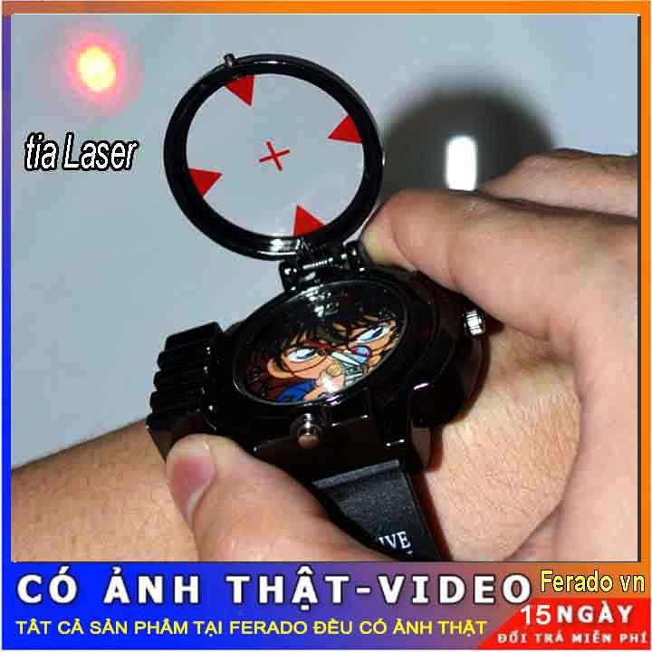 Đồng hồ trẻ em Conan đeo tay bắn laser