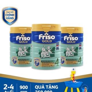[Tặng bộ đồ chơi thuyền]Combo 3 lon Sữa Friso 4 900g thumbnail