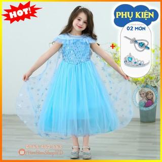 Đầm Elsa. Váy Đầm Công Chúa Elsa Xinh Đẹp Kèm Tà Và Phụ Kiện