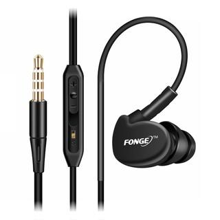 Tai nghe chống nước màu đen có dây và mic FONGE S500