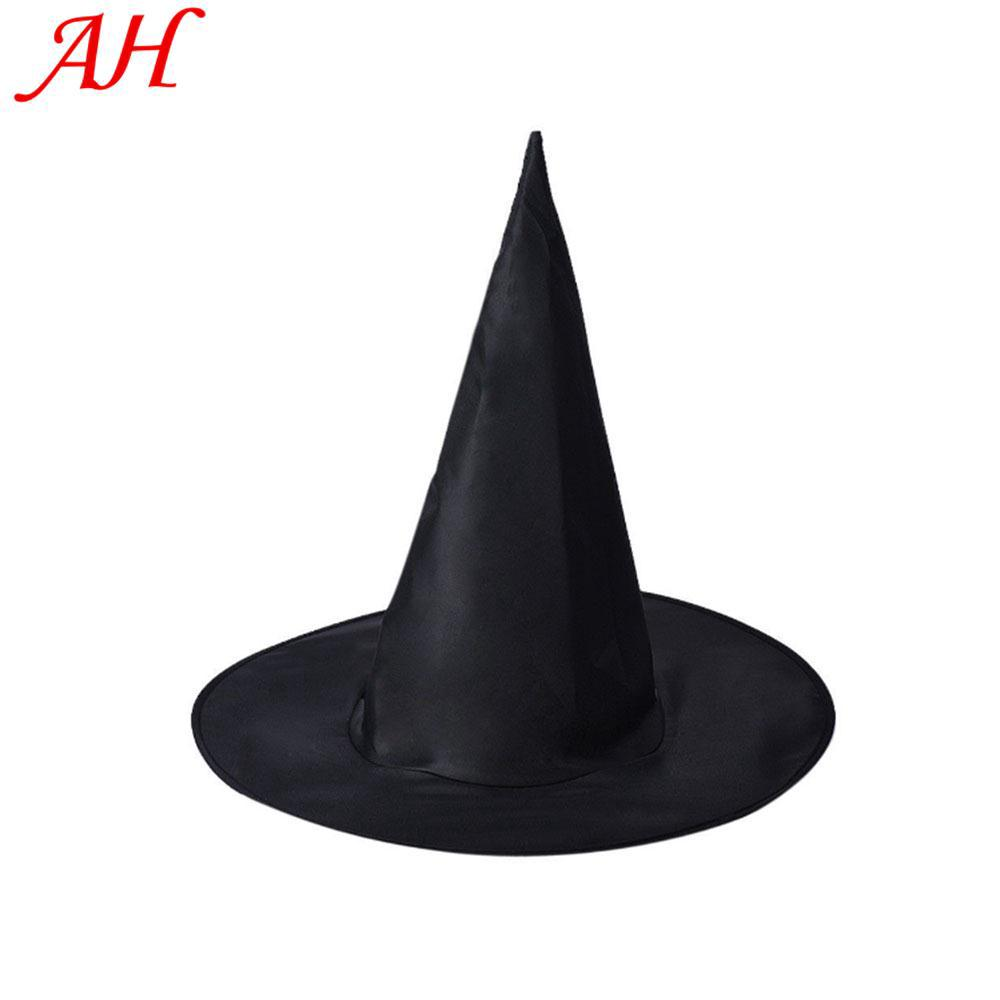 Witch Hat Peaked Halloween Costume Props Black Cool Creative Eye Catching