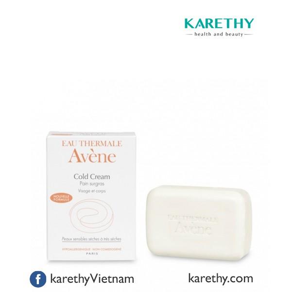 Avene Cold Cream Cleansing Bar: Bánh Xà Phòng Rửa Mặt-Tắm Cho Da Khô (100 gr)