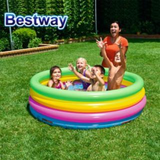 hồ bơi bể bơi phao cầu vồng 4 tầng 157x46cm Bestway 51117