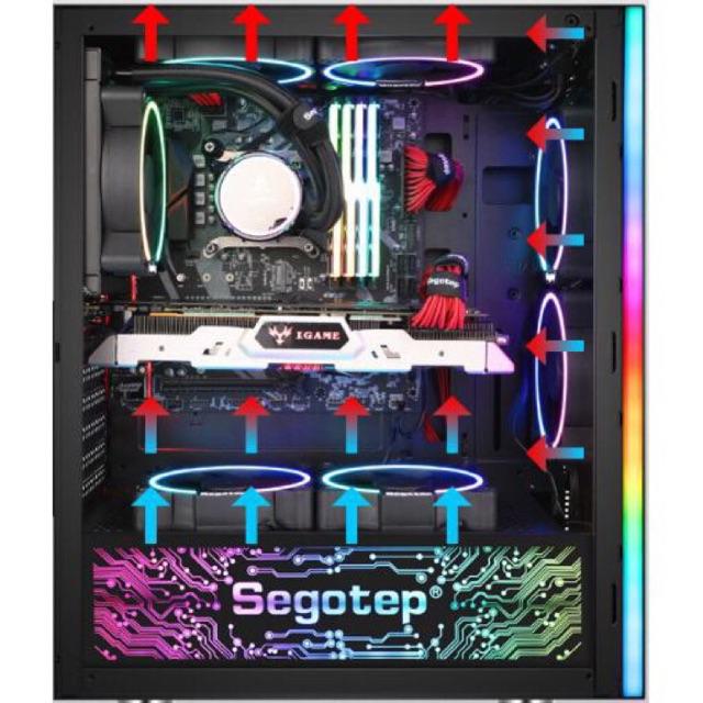Tấm che nguồn led RGB Segotep trang trí PC Giá chỉ 200.000₫