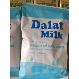 bịch sữa tươi tiệt trùng nguyên chất không đường Dalatmilk 220ml