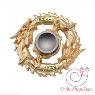 Con quay Finger Spinner Rồng cuộn tròn vàng ánh kim loại (tặng hộp đựng) Uh233