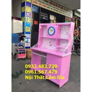 bàn học nhựa 1m màu hồng kitty hcm