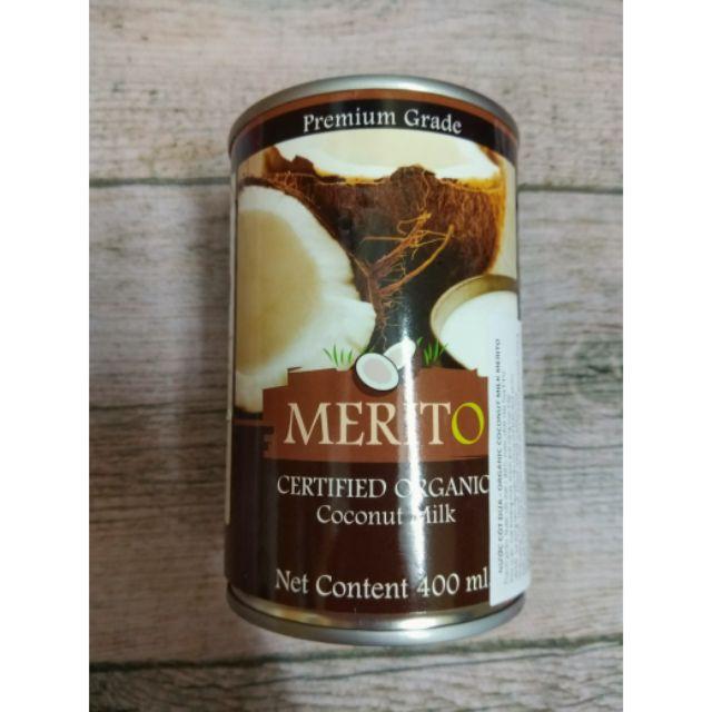 Nước cốt dừa hữu cơ hãng Merito 400ml (date 04.04.2020)