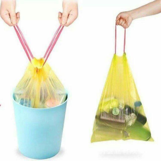 Túi đựng rác có quai dây rút siêu rẻ lại còn siêu sạch