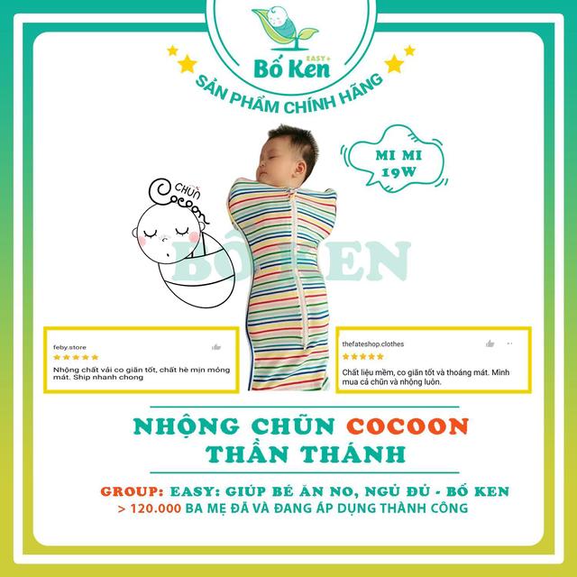 Shop Bố Ken Nhộng Chũn Cocoon Thần Thánh [Giúp Bé Ngủ ngon, Sâu giấc, không giật mình]