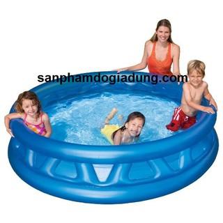 [Mã TOYHOT1212 giảm 8% đơn 300K] Bể bơi gia đình tròn xanh 188×46 Intex 58431