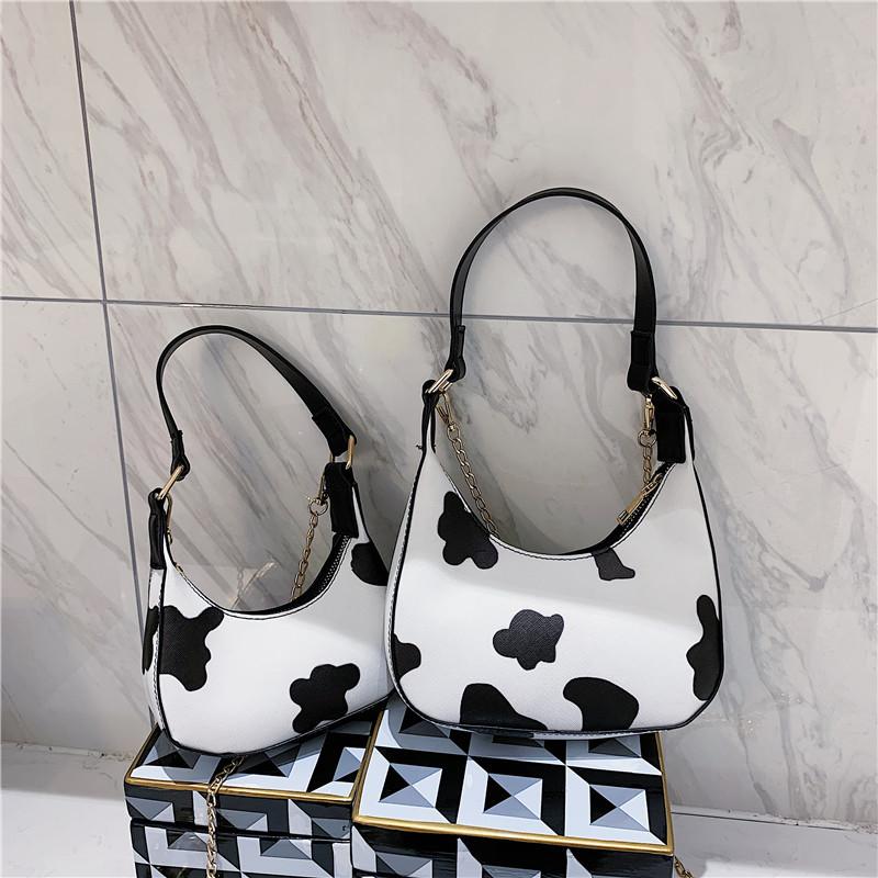 Túi đeo vai / túi xách GaLiCiCi họa tiết bò sữa dễ thương