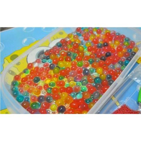hạt nở nhiều màu -Hạt nở Nhật Bản Làm Slime Hoặc Trồng Cây gói 100gram mã AUJ13