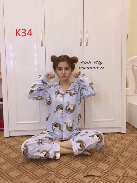 [Mã WASKT304 giảm 15% tối đa 30K đơn 99K] Bộ ngủ pijama tay dài quần dài chất đẹp