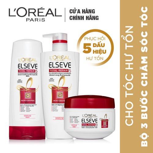 Bộ chăm sóc phục hồi tóc hư tổn L
