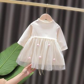 Đầm Công Chúa Phối Lưới Thời Trang Hàn Quốc Cho Bé Gái 0-3.5 Tuổi