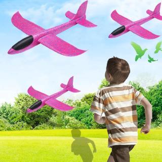 Kids 1pcs Hand Diy Throwing Launch Aircraft Glider Epp 48cm Foam W2V7
