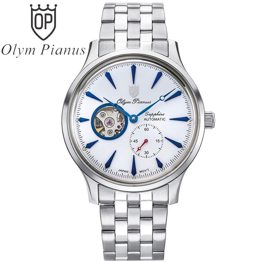 Đồng hồ nam dây kim loại Automatic Olym Pianus OP99141-77 OP99141-77AGS trắng