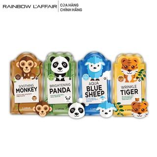 [Mã LT50 giảm 50k đơn 250k] Bộ 10 mặt nạ dưỡng ẩm, dưỡng trắng, chống lão hóa Rainbow L affair Animal (10miếng x 25ml) thumbnail