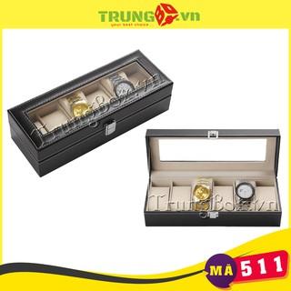 Hộp Đựng Đồng Hồ 6 Ngăn Vỏ Da SAIKE - Mã 511 thumbnail