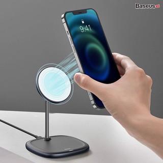 Đế sạc điện thoại tích không dây Baseus Swan Magnetic Desktop Bracket Wireless Charger